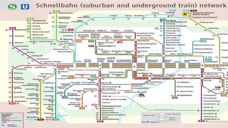 Munich U SBahn Metro Bus Map Schedule by Janice Ong