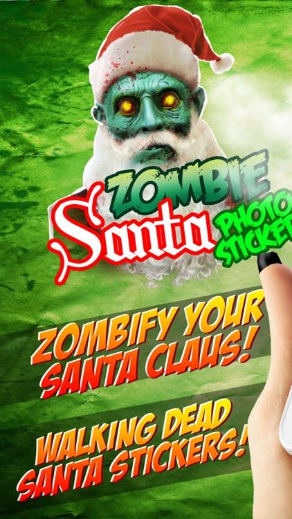 Christmas Zombie Santa.Zombie Santa Claus Christmas Face Stickers By Vladimir