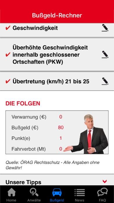 Screenshot von ÖRAG INFO§TEL-Anwaltsnotruf2