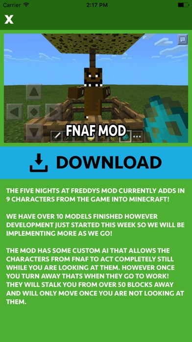 FNAF ADDONS FOR MINECRAFT POCKET EDITION (PE) by Hoai Trinh