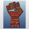 Non Violent Protest Stickers : Peaceful and Quiet