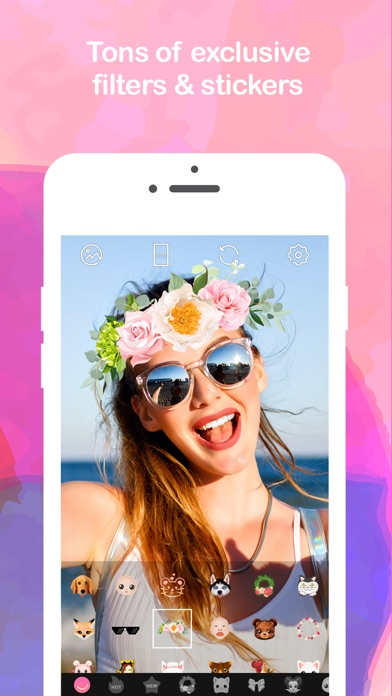 Screenshot #1 pour CamCam - Selfie Camera, Face Filters, Photo Editor