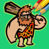 Free Caveman Coloring Book Page Game Education Wiki