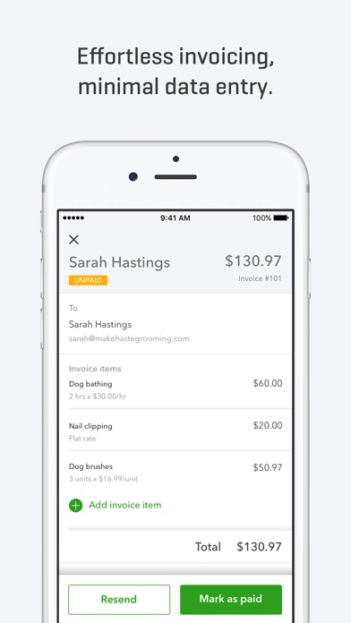 Iphone Receipt App Quickbooks Selfemployed On The App Store Fake Car Repair Receipt with Return Receipt Electronic Iphone Screenshot  Invoice Form Pdf Excel