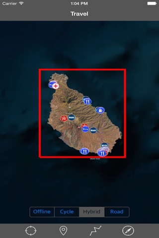 CAPE VERDE (SANTIAGO I) – GPS Travel Map Navigator screenshot 1