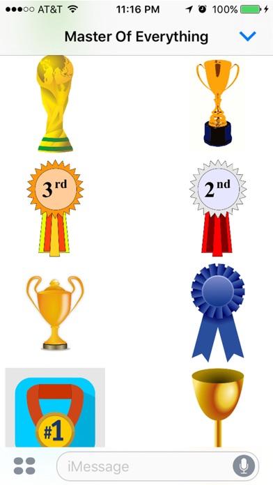 Стикеры Trophy: Если вы не первый, вы последний!Скриншоты 1