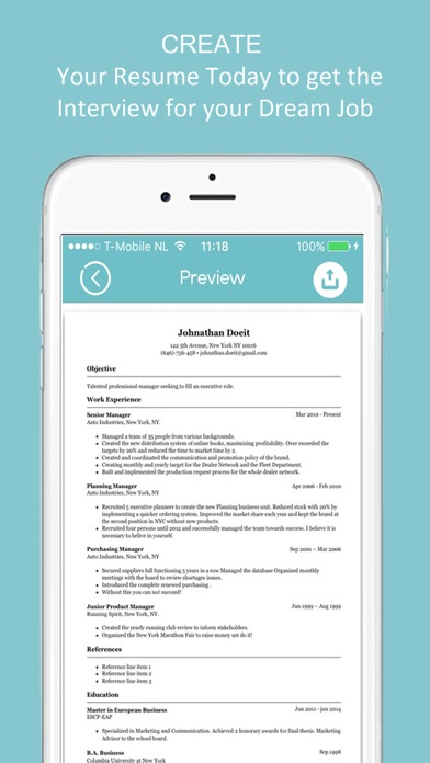 resume builder cv designer on the app store