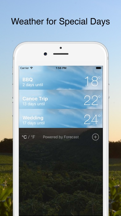 Weather Day - Weather Forecasts for Special Days Screenshots