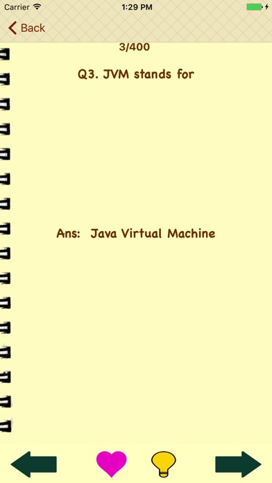 Screenshot of Impara Java con Flashcards3