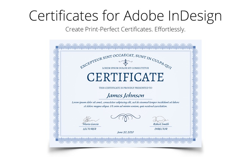 Printperfect certificate templates for indesign on the mac app store screenshot 1 yadclub Images