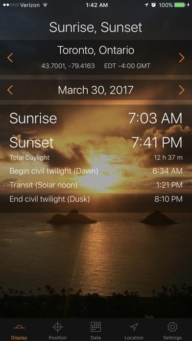 Sunrise Sunset Screenshot