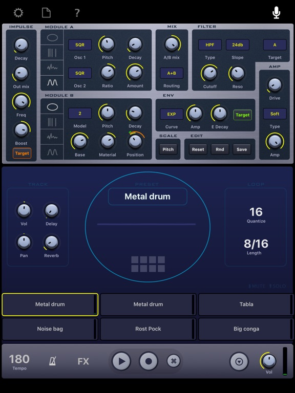 Impaktor - The drum synthesizer Screenshots
