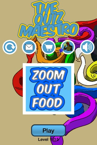 Zoom Out Food Game Quiz Maestro screenshot 1