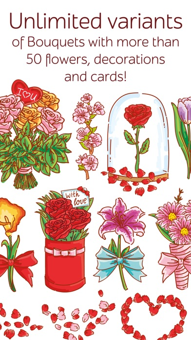 Make Bouquet! stickers for iMessageСкриншоты 2