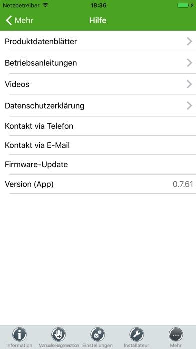 Screenshot von myGrünbeck4
