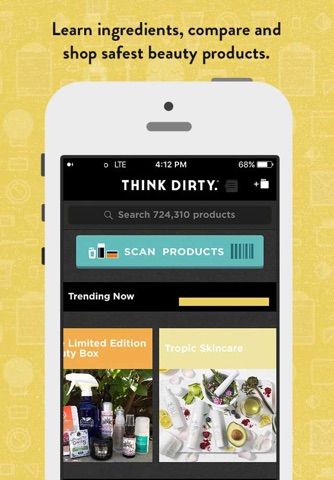 Think Dirty – Shop Clean screenshot 1