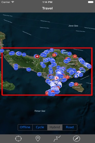 BALI (INDONESIA)– GPS Travel Map Offline Navigator screenshot 1