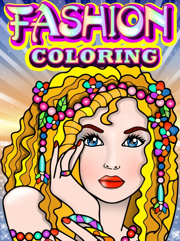 Fashion Coloring Books For Adults With Girls Games On The App Store