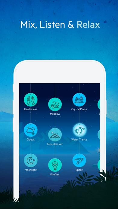 Screenshots of Relax Meditation: Mindfulness, Sleep Sounds, Noise for iPhone