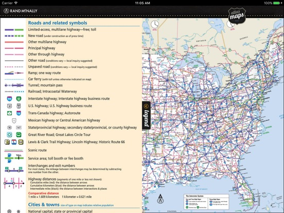 Rand McNally Road Atlas On The App Store - Us road map for ipad