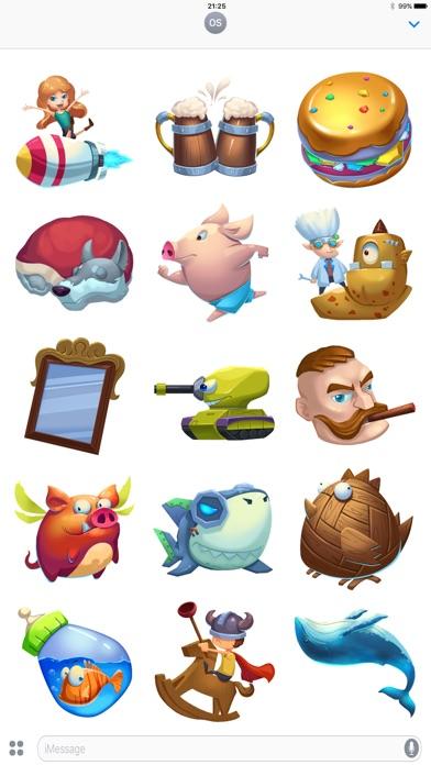 Pocket Game Stickers Screenshot 1