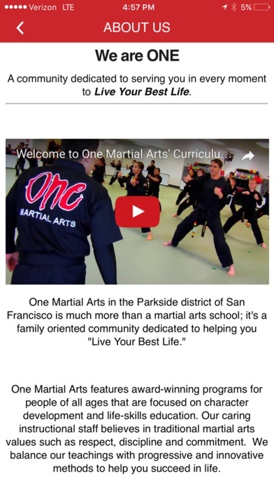 download One Martial Arts appstore review