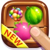 Tasty treats fruit on match 3 game