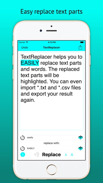 TextReplacer - find & replace Screenshots