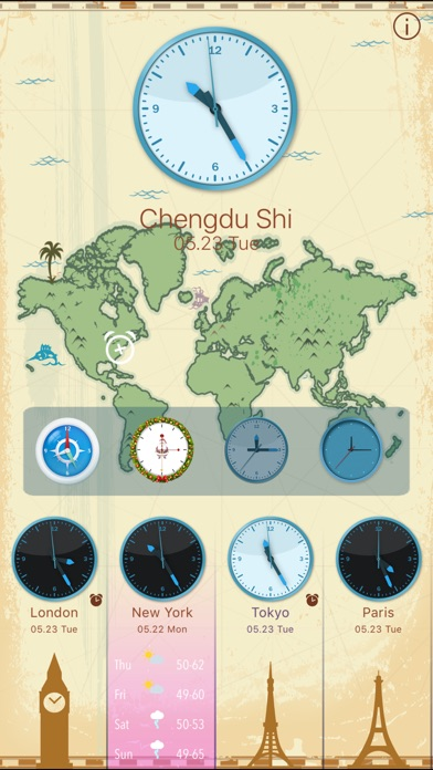 download World Clock HD for Time Zones apps 3
