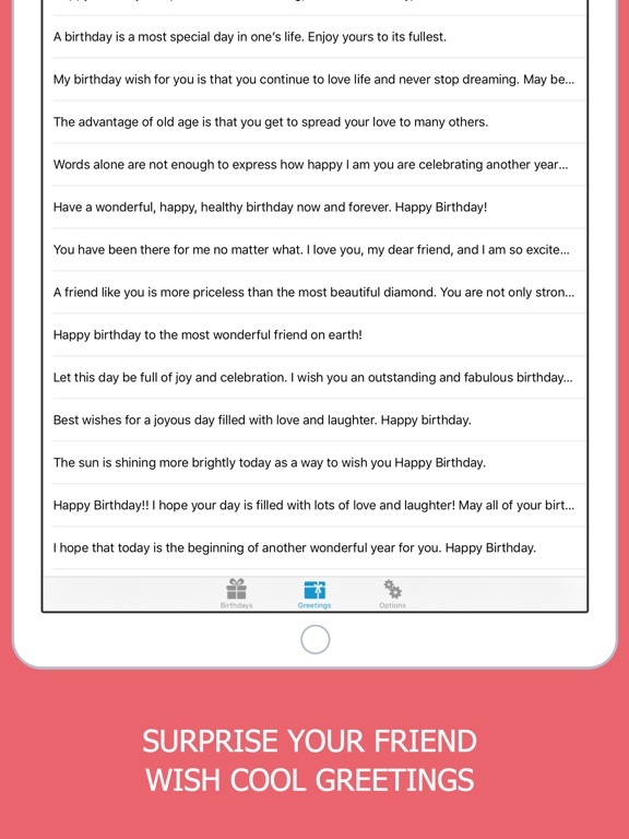 Happy Birthday Greetings Invitation list Tracker on the App Store – Birthday Text Greetings