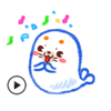 Happy Seal in Summer Animated Stickers Wiki