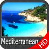 Mer Méditerranée GPS HD cartes nautiques de pêche