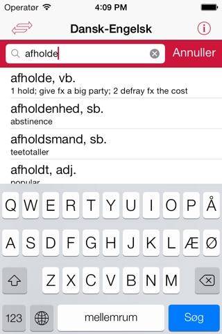 Gyldendal's English Danish Dictionary - Mini screenshot 2