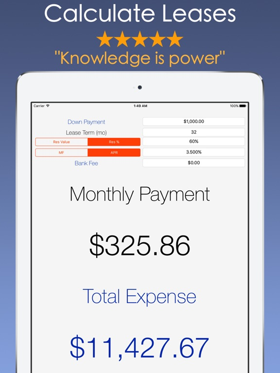 Car Payment Calculator - Auto Lease And Loan Calc On The App Store