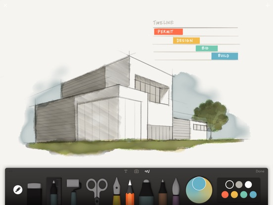 Architecture Drawing Ipad paperfiftythree - sketch, diagram, take notes on the app store