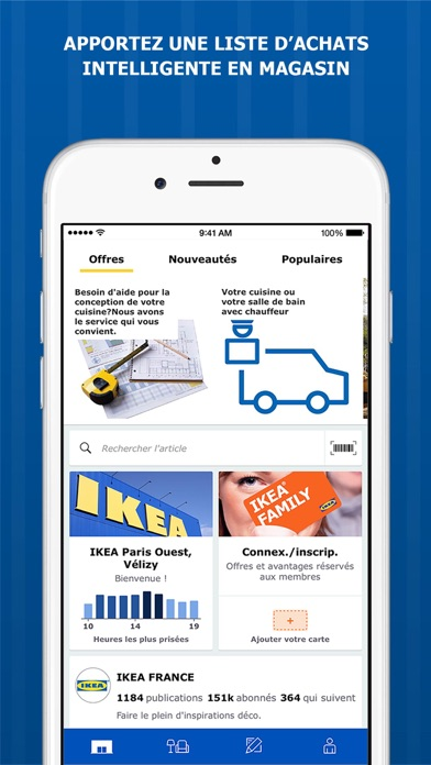 ikea store dans l app store. Black Bedroom Furniture Sets. Home Design Ideas