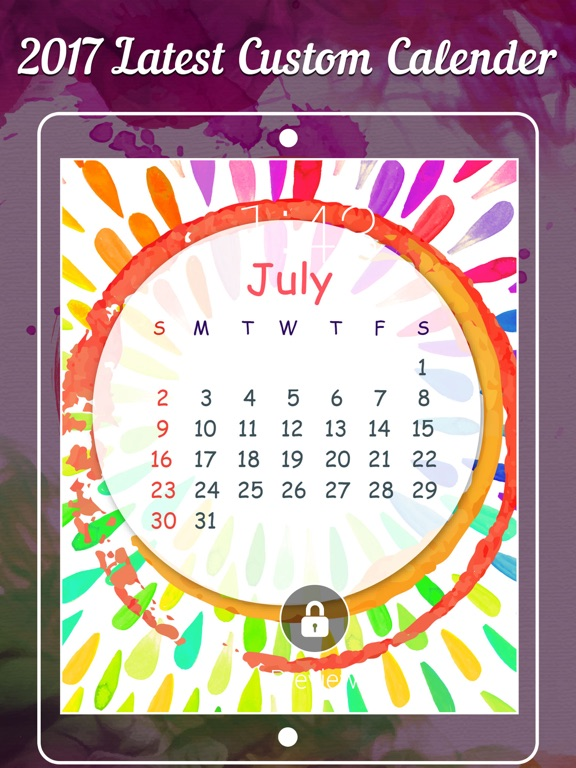 Calendar Lockscreen : Lock screen calendar fancy lockscreen app