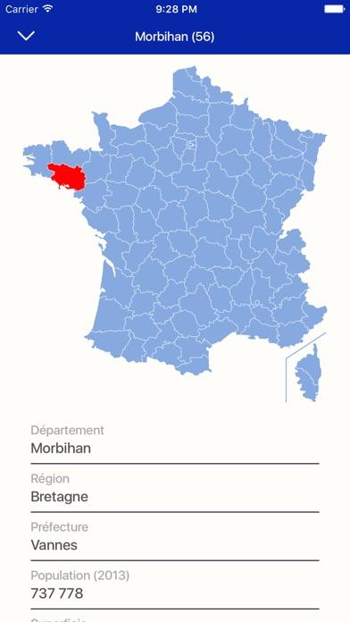 Départements de France - informationsCapture d'écran de 1