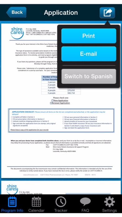 Shire Cares Mobile ApplicationScreenshot of 3
