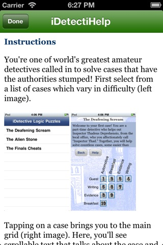 iDetectiveLt Logic Puzzles screenshot 3