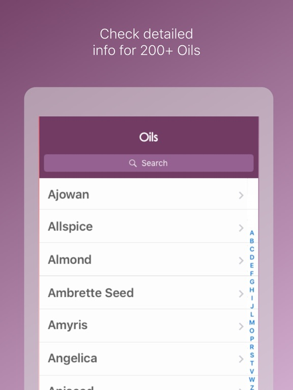 Essential Oils Reference Guide ++ Screenshots