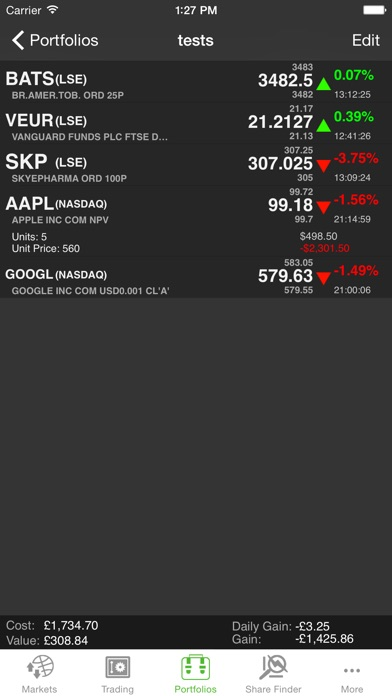 shareprice research screenshot one