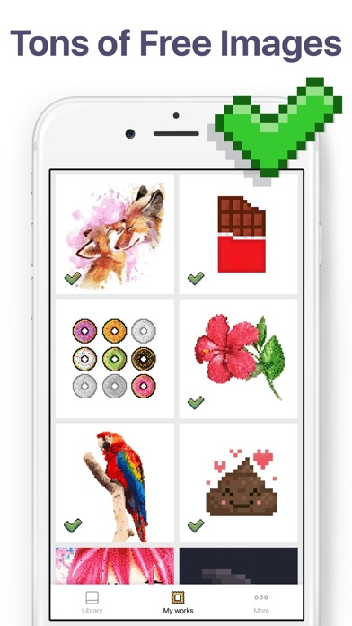 Screenshots of Pixel Art - Color by Number for iPhone