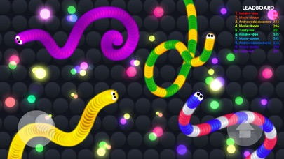 Screenshots of Rolling Snake.io - Worm IO Multiplayer Online Slither War Game - Free Agar Skins Version for iPhone