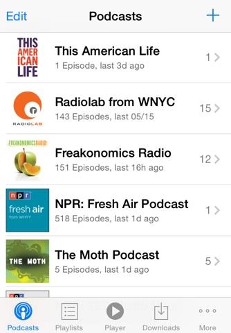 PodCruncher Podcast Player App screenshot 2