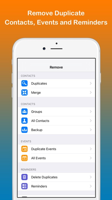 Remove duplicate contacts on the app store iphone screenshot 1 ccuart Image collections
