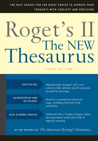 Roget's II: New Thesaurus screenshot 1