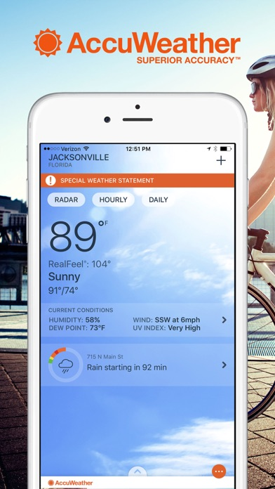 AccuWeather: Weather Tracker Screenshots