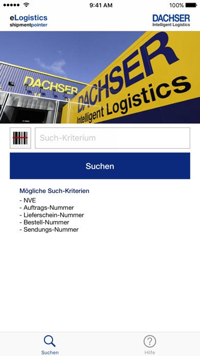 dachser elogistics shipment pointer im app store. Black Bedroom Furniture Sets. Home Design Ideas
