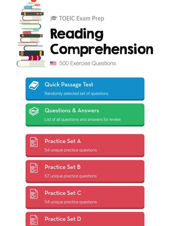 TOEIC Reading Practice Tests Screenshot